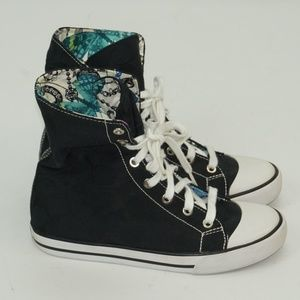 Coach Shoes - WOMENS COACH LEATHER WARE SNEAKERS HIGH TOP BLACK